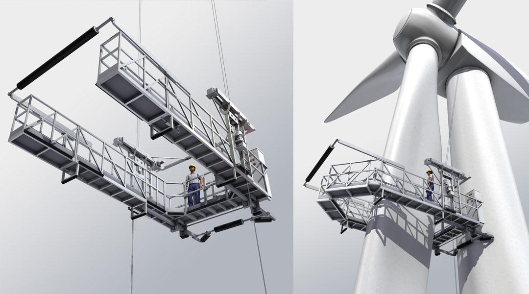 Service Lift für Rotorblätter