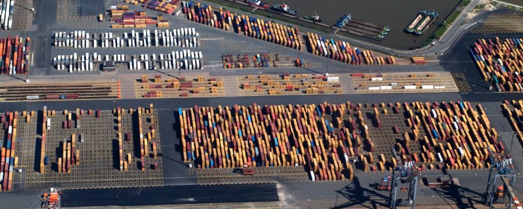 Luftbild Container